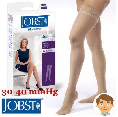 ถุงน่องเส้นเลือดขอด Jobst ระดับต้นขา แรงบีบ 30-40 มม.ปรอท