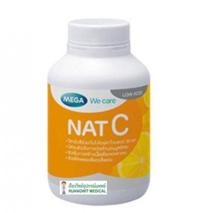 NAT C 1,000 mg Mega 60 เม็ด