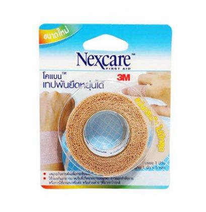 Nexcare Coban โคแบนเทปพันยืดหยุ่นได้ 1 นิ้ว x 5หลา (สีน้ำตาล)