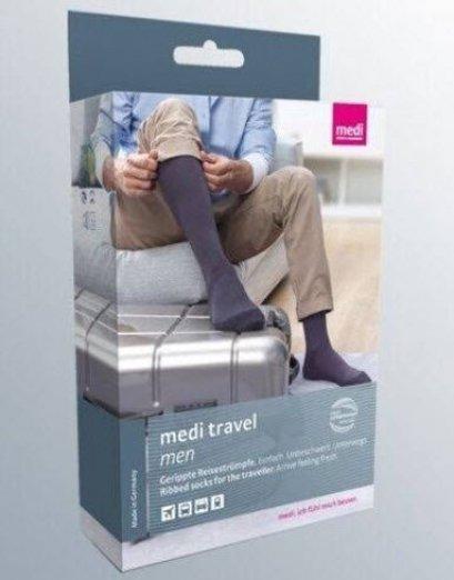 ถุงน่องเส้นเลือดขอด สำหรับการเดินทาง Medi Travel (สีดำสำหรับผู้ชาย)