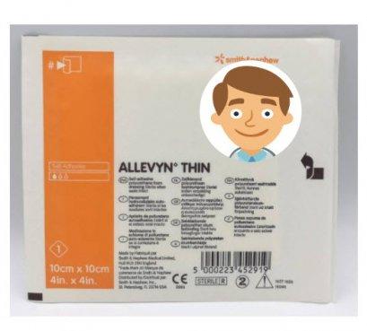 Allevyn Thin 10x10 cm (1 แผ่น)