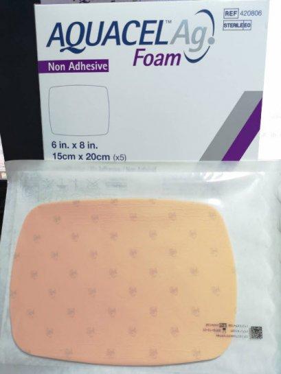 Aquacel Foam Ag+ Non Adhesive 15x20 cm (420806) exp 01-02-2022