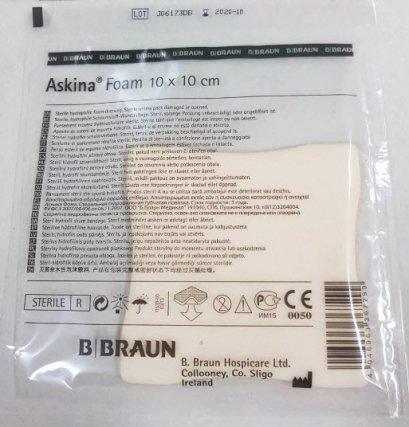 Askina Foam 10x10 cm (1 แผ่น) exp 11/2022