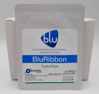 Blu Ribbon 3x5 cm สำหรับแผลที่ติดเชื้อ