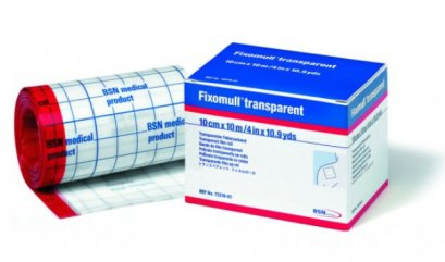 Fixomull Transparent แผ่นฟิล์มใสกันน้ำ 10 cm x 10M exp 01/2024