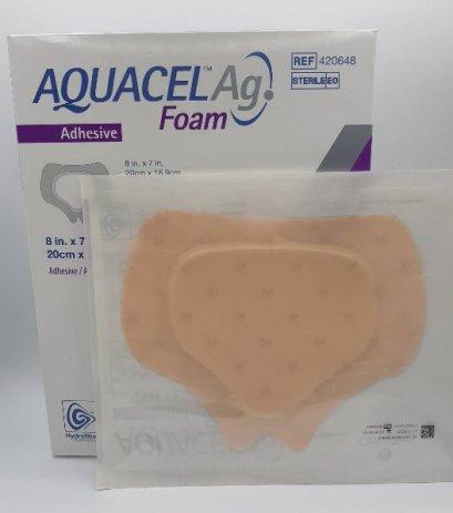 Aquacel Foam Ag+ Adhesive Sacrum 20x16.9 cm [420648]