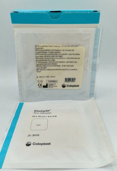 Biatain Non-Adhesive 10x10cm [Coloplast]  exp 10-01-2021
