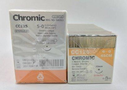 Chromic Catgut CT136 T1/2 13 6-0 45cm (exp 12-2021)