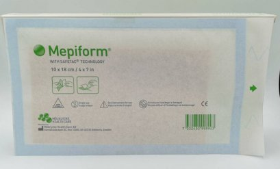 Mepiform Silicone Gel Sheet 10x18 cm แผ่นซิลิโคนลดรอยแผลเป็นขนาดใหญ่ exp 03/2021