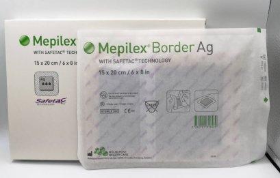 Mepilex Border Ag 15x20 cm สำหรับแผลขนาดใหญ่ (exp 28-09-2021)