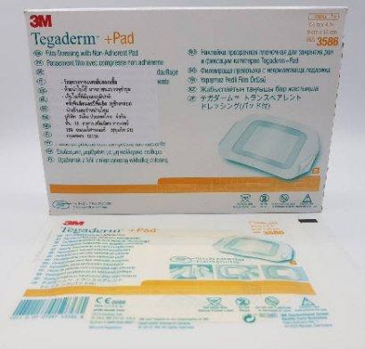 3M Tegaderm + Pad 9x10 cm แผ่นเทปใสปิดแผลกันน้ำพร้อมแผ่นซับ [3586] exp 03-2021