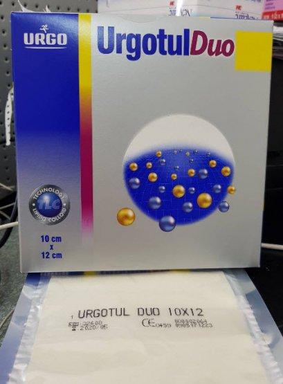 UrgoTul Duo 10x12 CM แผ่นตาข่ายปิดแผลชนิดโปร่งเสริมชั้นโฟม exp 01-02-2021