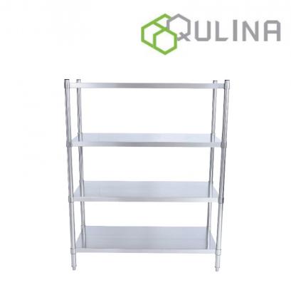 QULINA ชั้นวางเอนกประสงค์สแตนเลส แบบผิวเรียบ 4 ชั้น (ชนิดถอด-ประกอบได้)