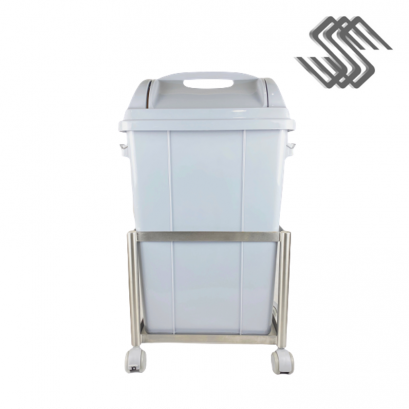 SS Mobile Dolly with Rectangle Garbage Bin