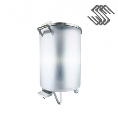 SS Mobile Garbage Bin, Foot Pedal 60 Liters