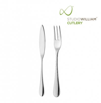 STUDIO WILLIAM MULBERRY MIRROR FISH FORKS & KNIVES SET