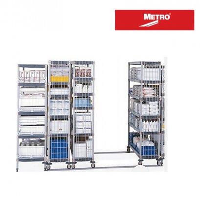 METRO qwikTRAK Floor Track Shelving with Super Erecta Pro Shelves