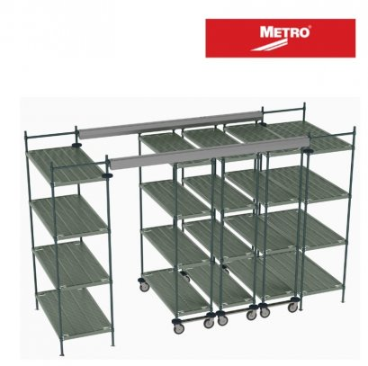 METRO  Top-Track Overhead Track Shelving with Super Erecta Pro Shelves