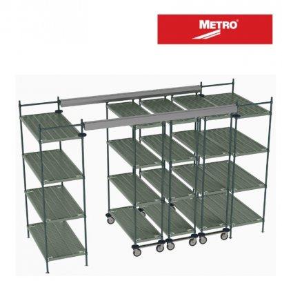 METRO  Top-Track Overhead Track Shelving with Super Erecta Pro Shelves