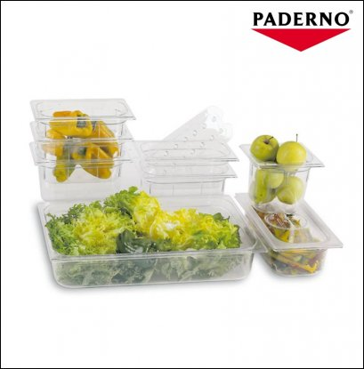 PADERNO GN Polycarbonate | Food Pan GN 1/4