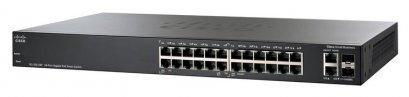 Cisco SG200-26P L2-Managed Switch 24 Port ความเร็ว Gigabit รองรับ VLAN พร้อม POE 802.3af 12Port
