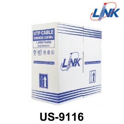สายแลน CAT6 UTP ULTRA (600 MHz) w/Cross Filler, 23 AWG, CMR ของ LINK, (305m./ม้วน)