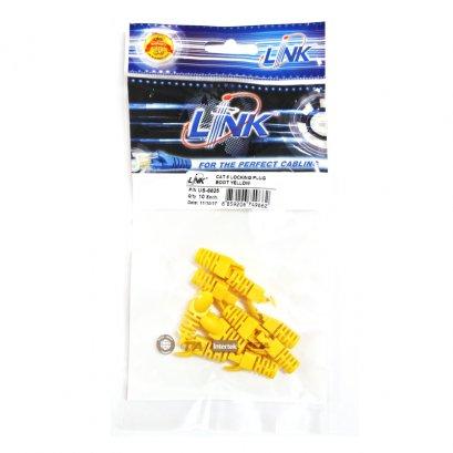 US-6625, Link CAT6 Locking Plug Boots สีเหลือง