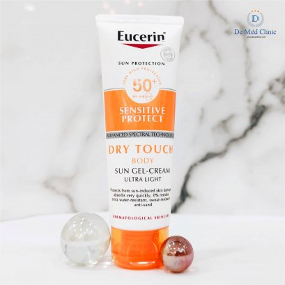 Eucerin Sun Body Dry Touch 50ml ผลิตภัณฑ์ป้องกันแสงแดดสำหรับผิวกาย Demed (EXP:06/23)