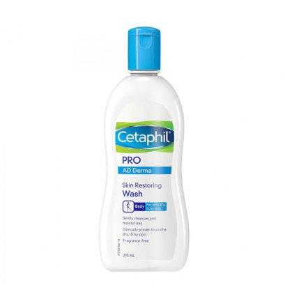 Cetaphil Pro AD Derma Skin Restoring Wash สูตรใหม่ 295 ml