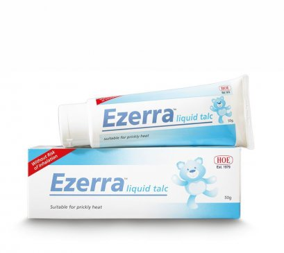 Ezerra Liquid Talc แป้งน้ำอีเซอร่า (สูตรสำหรับเด็ก) สินค้ามาแล้วค่ะพร้อมจัดส่ง โทรจองที่คลินิก DeMed Clinic