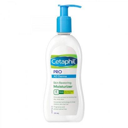 Cetaphil Pro AD Derma Skin Restoring Moisturizer สำหรับผิวคันและแห้งมาก 295ml. สูตรใหม่ (Cetaphil restoraderm)