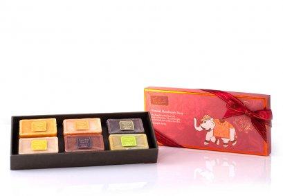 Natural Handmade Soap Gift Set, 6 x 30g.