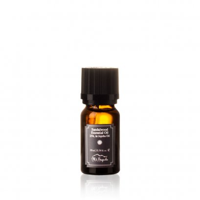 Sandalwood Essential Oil, 25%, in Jojoba Oil, 10ml.