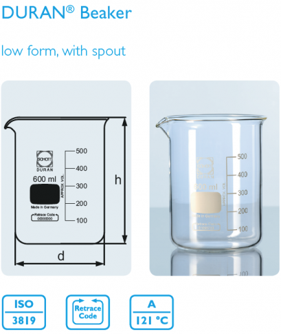 Beaker, low form 2000 ml