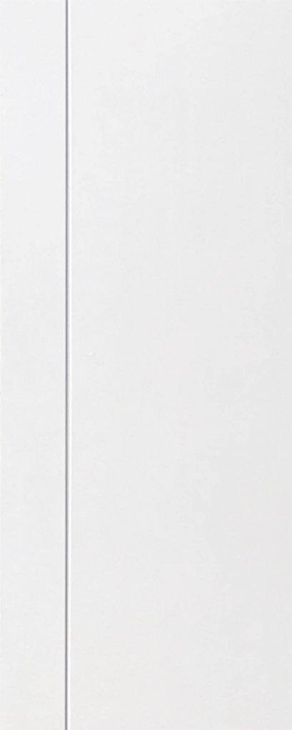 ประตู HDF บานเรียบ เซาะร่อง 1 เส้นตรง รองพื้นสีขาว