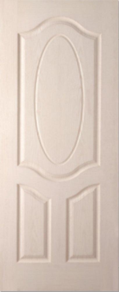 ประตูHDF บานลูกฟัก ราชพฤกษ์ รองพื้นสีขาว