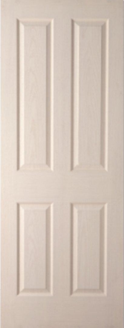 ประตูHDF บานลูกฟัก ธรรมรักษา รองพื้นสีขาว