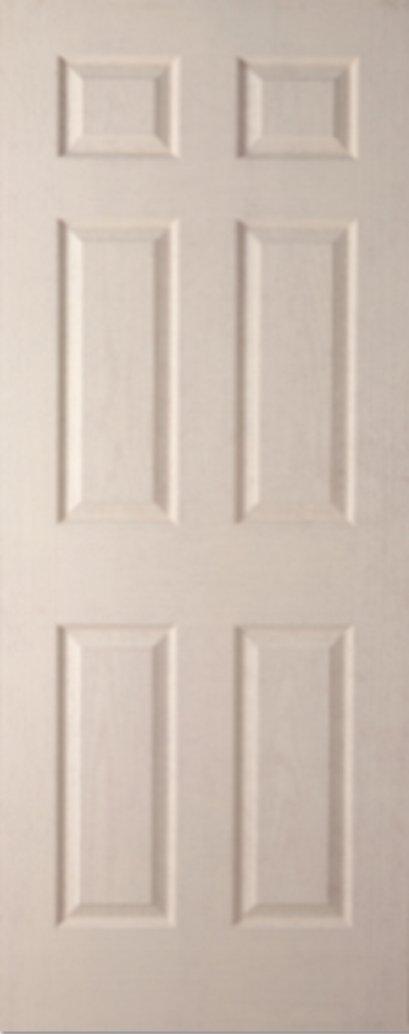 ประตูHDF บานลูกฟัก โกสน รองพื้นสีขาว