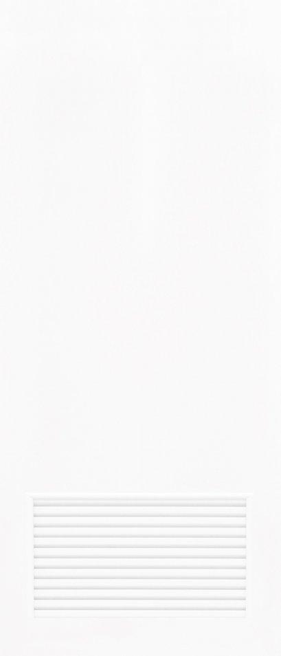 ประตูUPVC สีขาว ผิวเรียบ บานเรียบ เจาะเกล็ดเล็ก 1/4