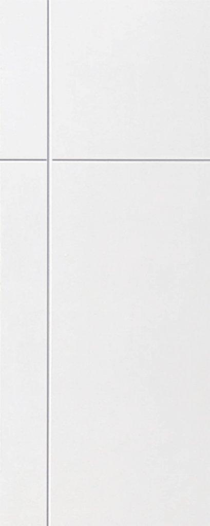 ประตูUPVC สีขาว ผิวเรียบ บานเรียบ เซาะร่อง 1 เส้นตรง 1 เส้นนอน