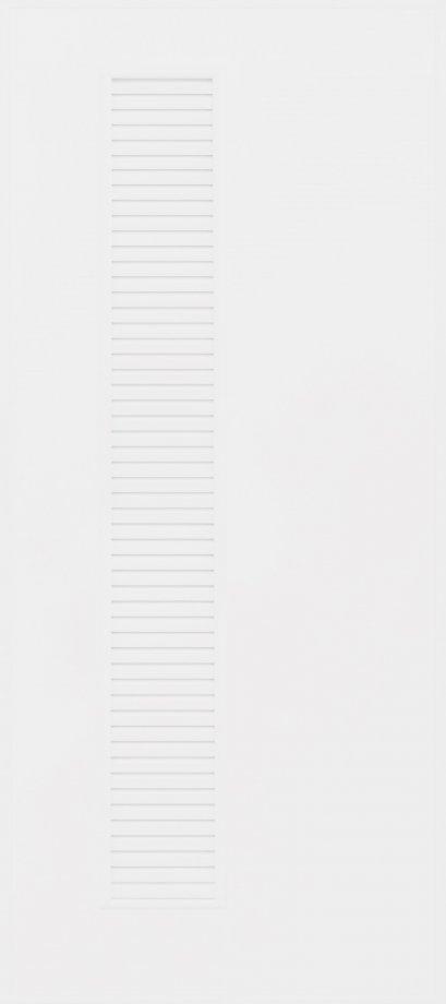 ประตูUPVC ผิวหน้าเรียบ สีขาว บานเรียบ+เจาะเกล็ดข้างเต็มบาน