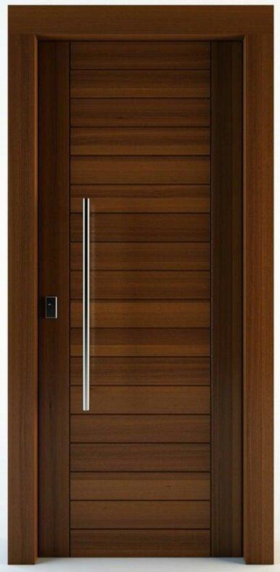 ประตูไม้แดง เอ็นจิเนียร์ บานเรียบแนวนอน (ไม่รวมทำสี)
