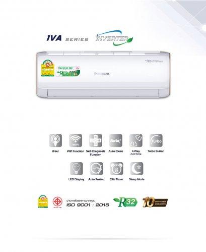 แอร์ Central Series Inverter รุ่น CFW-2IVA18 ขนาด 18,300 BTU น้ำยา R32 สินค้าใหม่ปี 2021