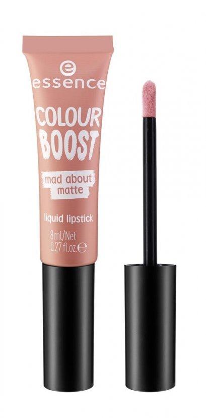 ess. colour boost mad about matte liquid lipstick 02