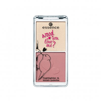 essence wood you love me? highlighter & blush palette 01