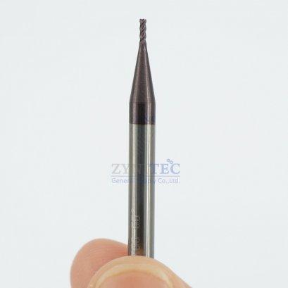 ดอกเอ็นมิลคาร์ไบด์ 4ฟัน Dia 1.0 mm 55 HRc