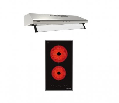 เตาไฟฟ้ากระจกเซรามิค เดอลุกซ์ ซีรี่ย์ + เครื่องดูดควันแบบสลิมไลน์