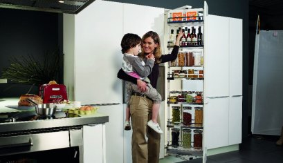 ชุดตู้สูงบานดึงเปิด Kessebohmer Dispensa