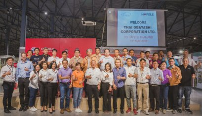 บริษัทไทยโอบายาชิ เยี่ยมชมโชว์รูมและนวัตกรรมของเฮเฟเล่