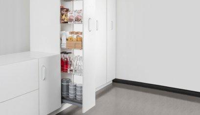 เพิ่มพื้นที่จัดเก็บในตู้สูงอย่างเป็นระเบียบ ด้วยชุดตู้สูงบานดึง มิลานซีรีส์